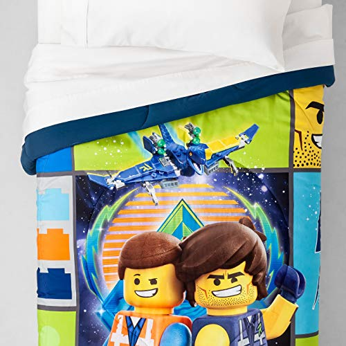 "LEGO Movie 2 Galactic Duo Reversible Full Comforter 86"" x 72"""