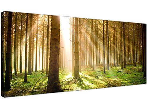 Modern Canvas Prints of Forest Trees for your Dining Room - Large Landscape Wall Art - 1042 - WallfillersÃ'® by Wallfillers