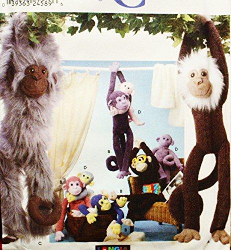 Gespräche Simplicity Crafts Muster 9526. 66cm & 38,1cm gefüllt Affen. Ausgezeichnete, müssen siehe Iten.