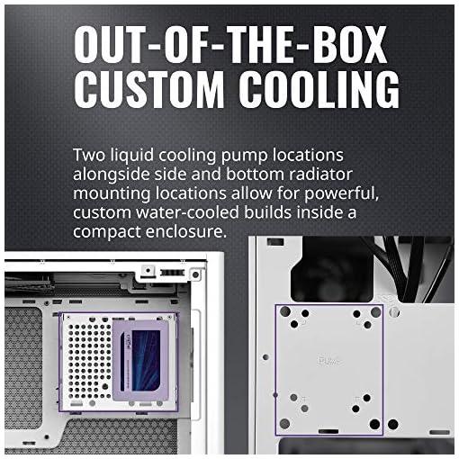 Cooler Master NR200 Caja Mini-ITX de Factor de Forma pequeño SFF Blanco con Panel ventilado, GPU de Triple Ranura, sin… 4