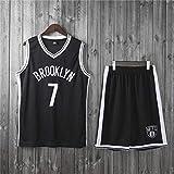 XXMM Conjunto De Camiseta para Niños Y Adultos, Camiseta De Baloncesto NBA Brooklyn Nets # 7 Kevin Durant, Pantalones Cortos Superiores Transpirables, Camiseta Sin Mangas,Negro,XL(Child)