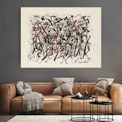 lienzo arte de pared Jackson Pollock《Sin título》composición cuadros decoracionlienzos decorativos cuadros decoracion dormitorios decoración pared lienzos decorativo 30x40cm 12 'x16' Sin marco