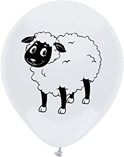 Sheep Latex Balloons, 12inch (16pcs) Farm Animal Baby Shower Or Birthday Party Decorations, Supplies