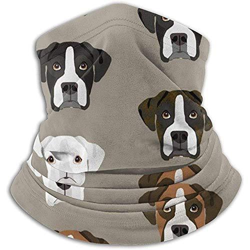 Hui-Shop Boxer Dogs Boxer Heads Neck Warmer Guêtre pour Hommes Femmes Bandeau Visage m-Ask Écharpe Chapeaux Hiver Cagoule
