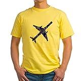 CafePress T-shirt en coton vieilli 4 à 100 % - Jaune - Medium