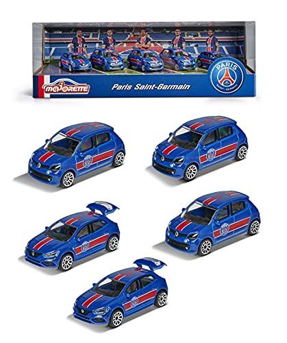 Majorette - PSG Giftpack - Voitures Miniatures en Métal - Paris Saint-Germain - Coffret 5 Véhicules - 212053175