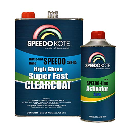 Speedokote Mobile Refinish Clear Coat High Gloss Super Fast Clearcoat Gallon Kit SMR-105/85