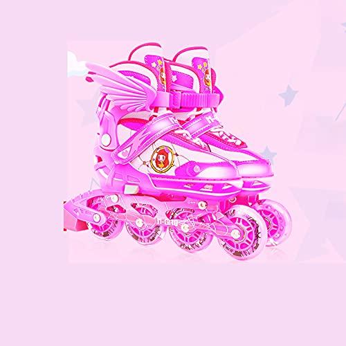 ZDSS Pattini,Rollerblade Bambina Regolabili,Regolabili Pattini in Linea Bambina illuminare,Rollerblade Bambina Regolabili,Pattini per Bambina e Bambini e Bambino