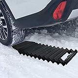 JF-Xuan Junta Resistencia automático de tracción Mat Skid recuperación de neumáticos de emergencia antideslizante barro rueda de coche del tracto Nieve arena Fit vehículos universales Cadenas antidesl