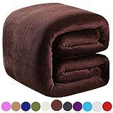 Richave Polar Fleece Throw Blankets Travel Size for The Bed Extra Soft Brush Fabric Super Warm Sofa Throw Blanket 50' x 61'(Dark Grey Travel)