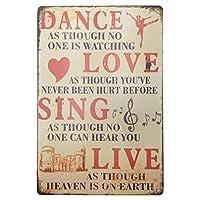 ダンス歌うホームバーレトロな壁の装飾クラフト絵画金属ブリキサインギフト