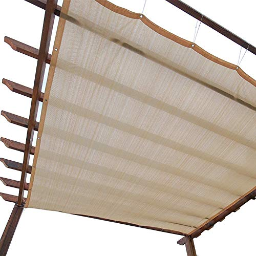 Lanrui 2mX3m Sun Shade Panel Privacy Screen with Grommets 90% Sunblock for Outdoor Patio Awning Window Cover Pergola or Gazebo (Beige) (Size : 2m x 4m) Size:3m x 8m (Size : 2m x 6m)