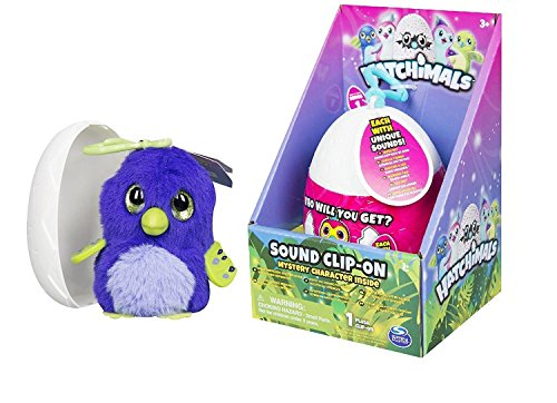 Hatchimals soft egg plush clip with sounds - mystery character
