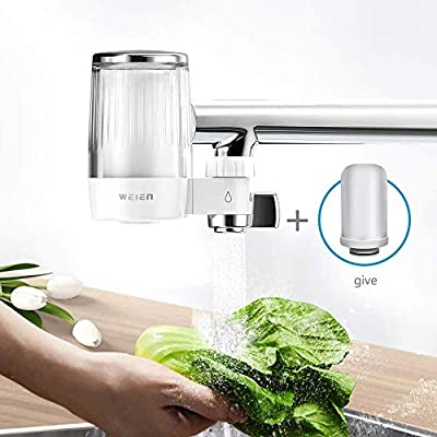 WEIEN Advanced Faucet Water Filter with Activated Carbon,Water Faucet Filtration System Removes Lead & Chlorine?High Water Flow Tap Water Purifier for Home Kitchen Bathroom - (2 Filter Included)