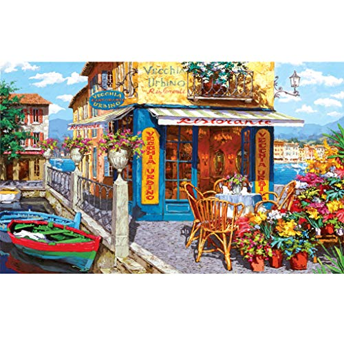 GuDoQi Puzzle 1000 Piezas Adultos Rompecabezas Pier Tavern para Infantiles Adolescentes