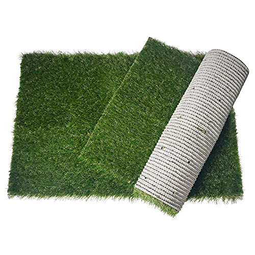 Oiyeefo Artificial Pet Pee Grass Mat for Puppy, Pet Turf Fake Grass Replacement Pad for Dog Potty Training, Indoor and Outdoor - 2 Packs (14