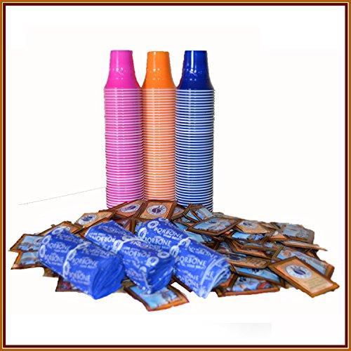 Borbone Kit Accessori 100Pz Bicchierini + Bus. Zucchero + Palette - 1360 gr