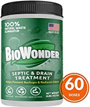BioWonder Septic Tank Treatment - 3X More Powerful - 100% Organic Enzymes & Bacteria - Perfect for Disposals, Septic System, RV's, Drains, Toilets - 2lbs 60 Treatments