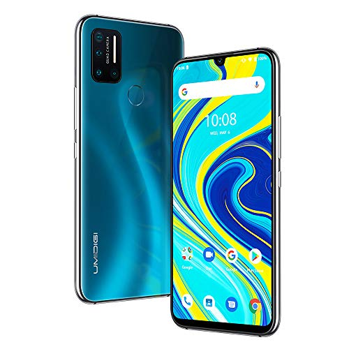 UMIDIGI A7 Pro Unlocked Smartphones Android 10,64GB+4GB RAM with 6.3 inch FHD+ Full Screen Cell Phones,16MP AI Quad Camera with 4150mAh Battery, 2 + 1 SIM Slot 4G