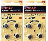 Kodak - Batería para audífonos (8 unidades, tamaño 312 (PR41, K312ZA) 1,45 V, EXP 03/2022