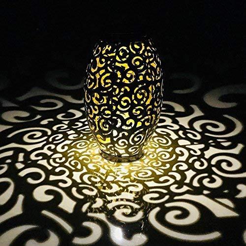 Solar-LED-Hängeleuchte von Stolz Retro hohlen Metall Wolke Laterne im Freien Dekor-Lampe