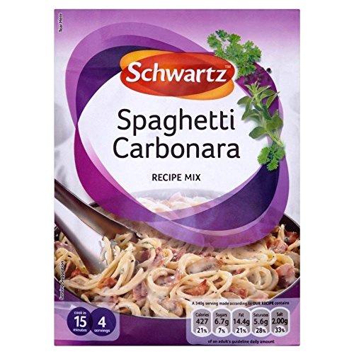 Schwartz Mezcla De Espagueti Carbonara Receta (32g) (Paquete de 6)