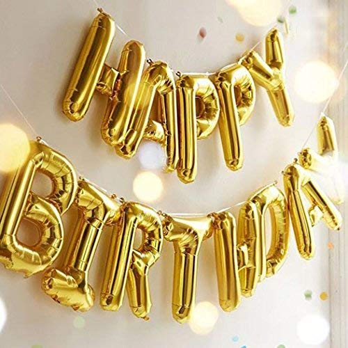 Happy Birthday Balloons OUTGEEK Banner Foil Letters Mylar For Party