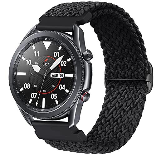 fibbia cinturino orologio Harikiri Cinturino Intrecciato Solo 22mm Compatibile per Samsung Galaxy Watch 3 45mm/46mm
