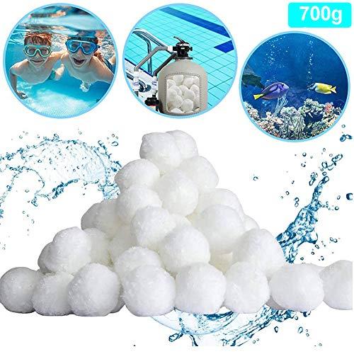 Filter Balls | Filterbälle 700g | Filter für Sandfilteranlage,Ersetzen 25kg Filtersand,Filteranlagenzubehör,Quarzsand Filter Balls Extra langlebige Filter Balls für glasklares Wasser im Pool