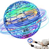 Flying Ball Toys, Flying Orb Hover Ball, 360° Rotating Soaring Orb Toy, Nebula Orb Toy with Built-in RGB Light Gift Orb Ball ,Toy Safe for Outside Game -Birthday Gifts for Kids, Boys, Girls
