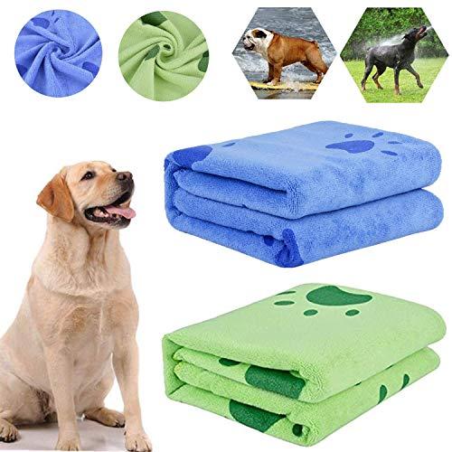 Toallas Baño Perros, 2Pcs Toallas de Baño para Perros, Toallas de Microfibra para Secar Perros, Toallas de Playa Toallas Ultra Absorbentes para Perros Pequeños Medianos