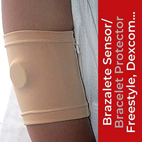 IKOOKI Abbott Freestyle Freestyle Libre – Dexcom G4 G5 G6 – Guardian-sensor – bescherming armband – fixeer en bescherm je glucose-sensor – flexibel en comfortabel – huidskleur – 14 maten