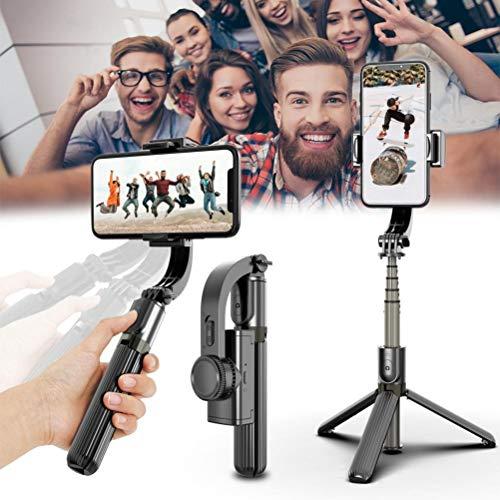 Gimbal - Estabilizador de cardán portátil para teléfono móvil, 3 en 1, estabilizador de trípode para teléfono móvil, estabilizador de cardán con control inteligente ligero