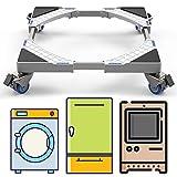 DEWEL Podeste & Rahmen für Waschmaschinen mit Schwenkräder, Verstellbare...