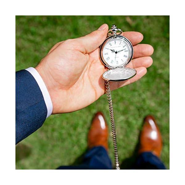 "Groomsmen Gifts for Wedding or Proposal – Engraved""to My Groomsman"" Pocket Watch – Luxury Wedding Gift"