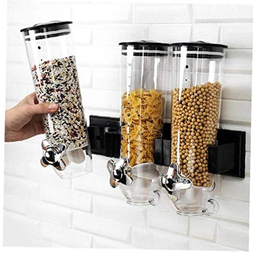 Montado En La Pared del Cereal Seco Tarro Dispensador De Almacenamiento De Alimentos del Grano con Mando De Apertura Cocina Contenedor De Almacenamiento 1pc