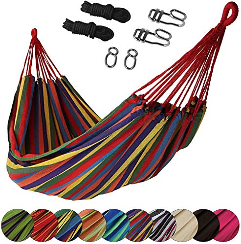 PJY sport cloth hammock 200 x 140 cm set incl. Fastening material, color, chocolate, Jamaica