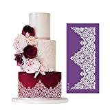 Cake Lace Decoration Mould Cake Decorating Stencil Molds, Wedding Cake Mesh Stencils Cake Templates Spray Floral Cake Side Molds, Wedding Cake Decorating Stencil Baking Tools
