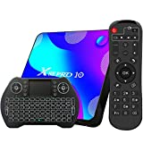Android TV Box 11, 4GB RAM 32GB ROM Android 11.0 Compatible con 4K 3D, RK3318 Dual-WiFi 2.4g / 5g Smart TV Box con Mini Teclado