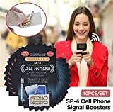10pcs Harper Grove Cell Phone Internal Antenna Signal Reception Booster, SP-4 Cell Phone Signal Booster Sticker - As Seen on Tv, Booster Your Signal in Travelling, Mountaineering, Taking the Lift