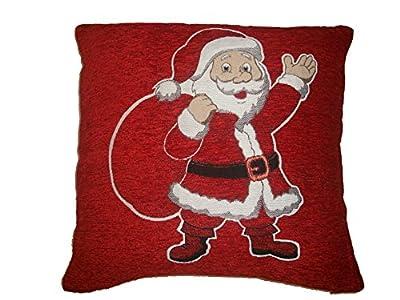White Reindeer & Christmas Wreath Luxury Christmas Scatter Cushion