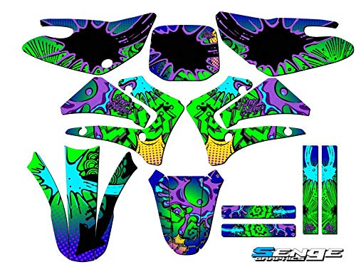 2000-2007 TTR 125, Zany Blue Complete kit, Senge Graphics, Compatible with Yamaha