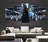 YFTNIPL 5 Stück Moderne Leinwand Drucken Star Wars
