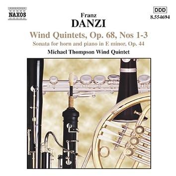 Danzi: Wind Quintets, Op. 68, Nos. 1-3 / Horn Sonata, Op. 44