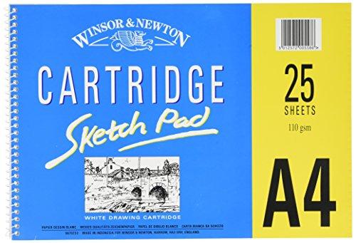 Winsor & Newton 6670233 spiralgebundener Skizzenblock, 25 Blatt - weiß, 110 g/m²,...