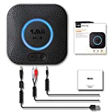 1Mii Ricevitore Bluetooth 5.0, Adattatore Audio Bluetooth Hi-Fi con Jack Aux da 3,5mm e Rc...