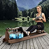 Bester Rowing Machine for Home Use,American Ash Wood Water Resistance Rower with Bluetooth...