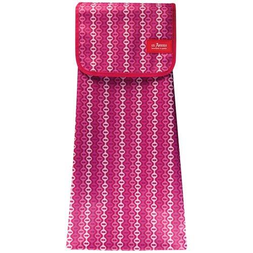 Les Artiste Paris A-1608 tas voor kinderwagen roze retro stof