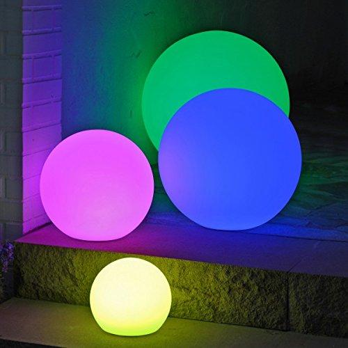 Canyonlands multifunktionale farbwechselnde Outdoor Akku LED Gartenleuchte Kugelleuchte in versch. Größen - 7 Farben - (50 cm)