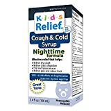 Kids Relief Cough & Cold Syrup Nightime Formula for Kids 0-12 Years